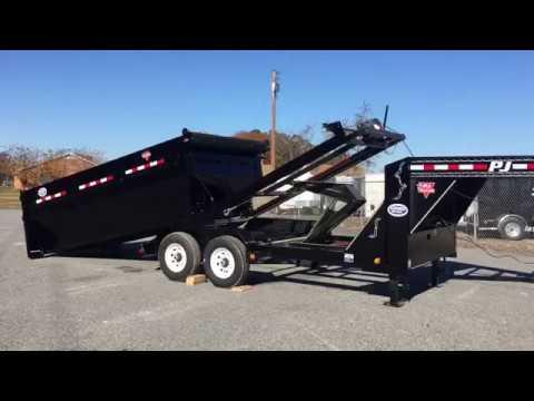 PJ Trailers Roll Off Dump Trailer  YouTube
