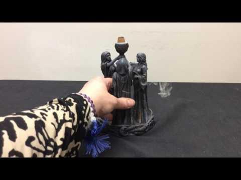 Triple Goddess Backflow Incense Burner at MagicalOmaha.com