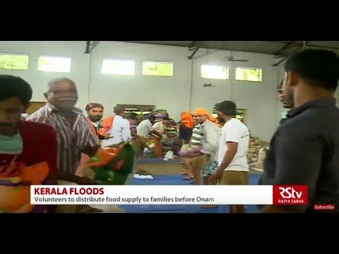 How are NGOs organising & distributing relief material in Kerala