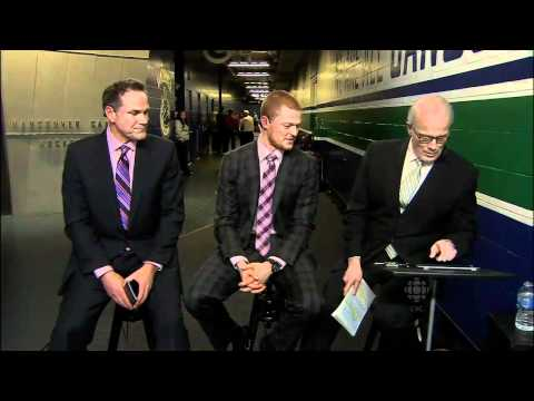 Cory Schneider Funny Impressions of AV and Burrows - 3/31/12