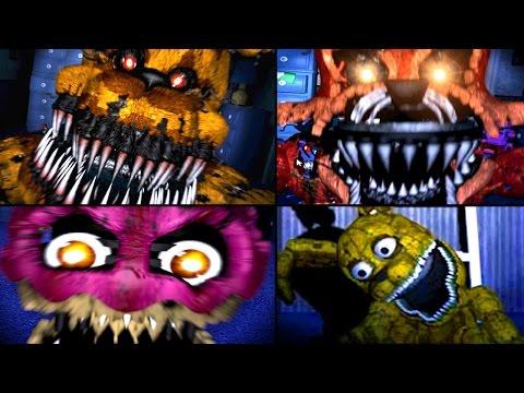 ALL JUMPSCARES Five Nights At Freddy's 4 (FNAF 4 Jumpscares)