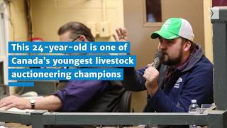 Check out one of Canada's youngest livestock auctioneering champions