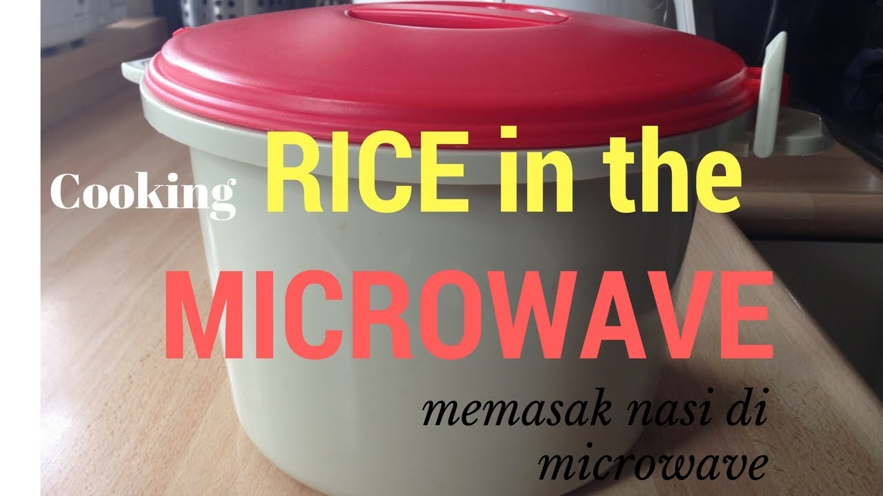 How To Cook Rice With The Microwave Youtube
