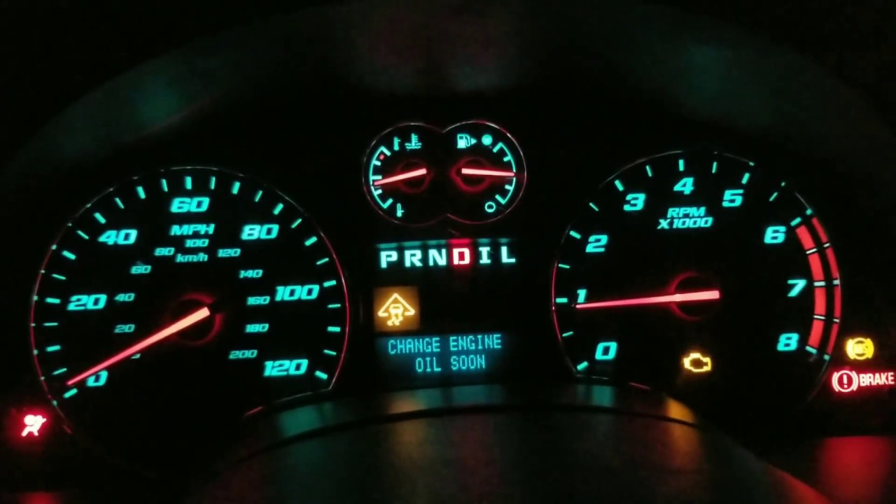 09 Chevy Equinox 3 4l All Dash Lights Go On Cluster Go S