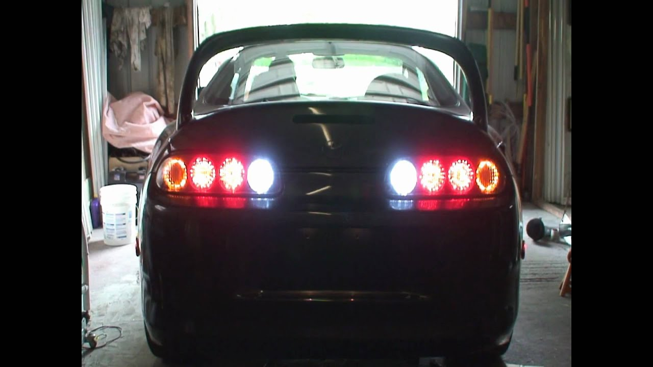 Supra LED Tail Lights in the Garage  YouTube