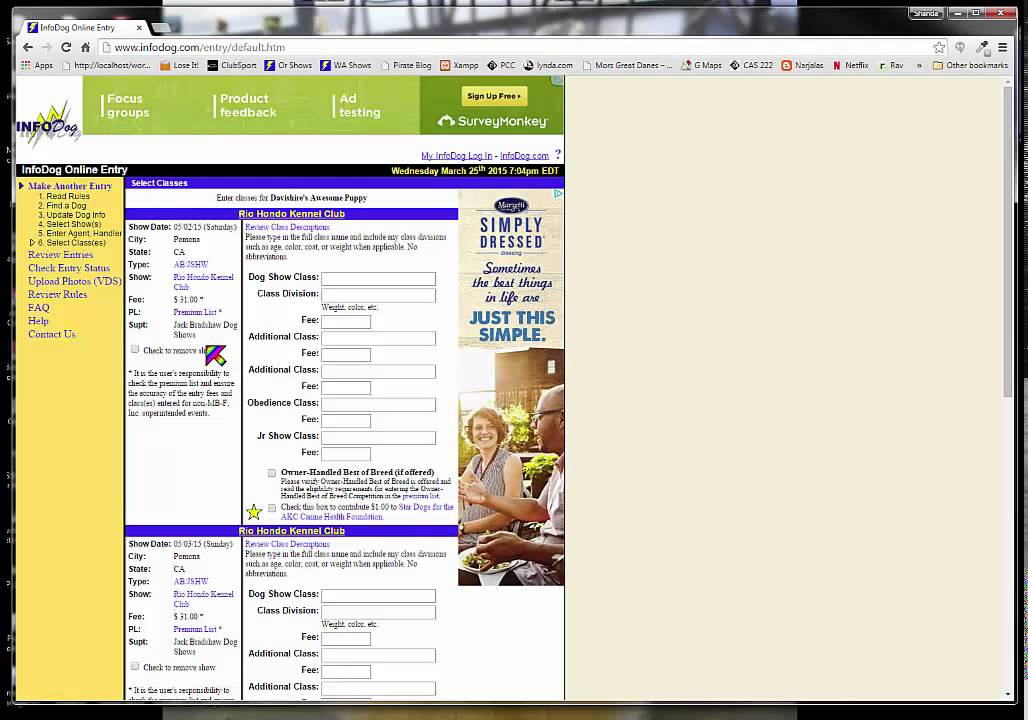 Infodog Online Dog Entry Tutorial 150325