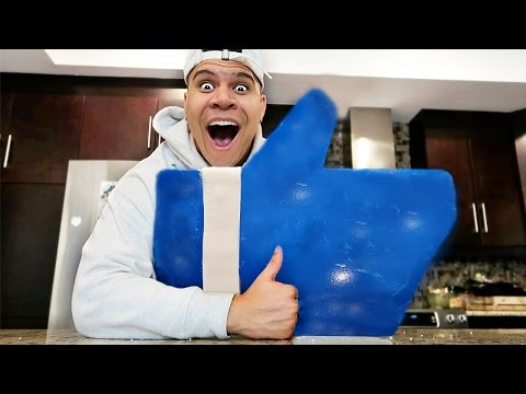 GIANT GUMMY YOUTUBE LIKE BUTTON!! (CAN THIS VIDEO HIT 500,000 LIKES?)