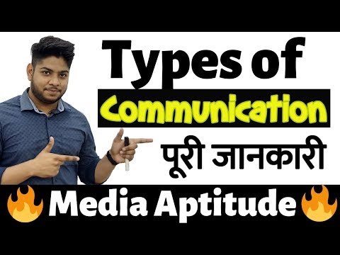 Types Of Communication Media Aptitude|BJMC Entrance Exam Important Topic Complete Details Hindi