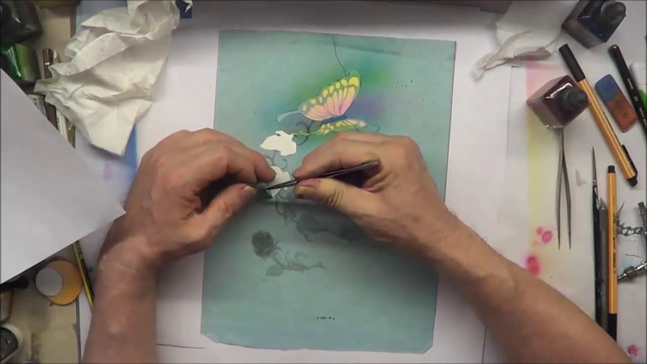 Airbrush Schmetterling Bilderrahmen mit Schablonen zum ausdrucken ...