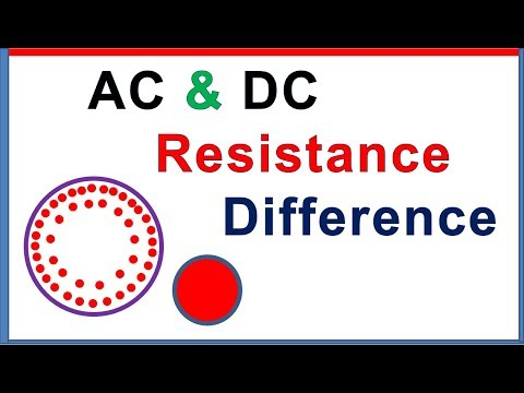 AC resistance & DC resistance, difference, frequency effect