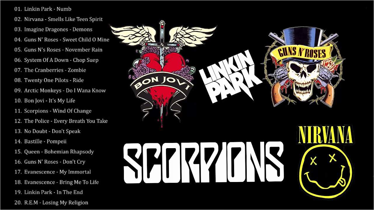 Acoustic Rock Collection 2019 Linkin Park Guns N Roses Nirvana Bon Jovi Scorpions Best Songs