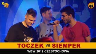 Toczek  Siemper  WBW 2019 Częstochowa (FINAŁ) freestyle rap battle