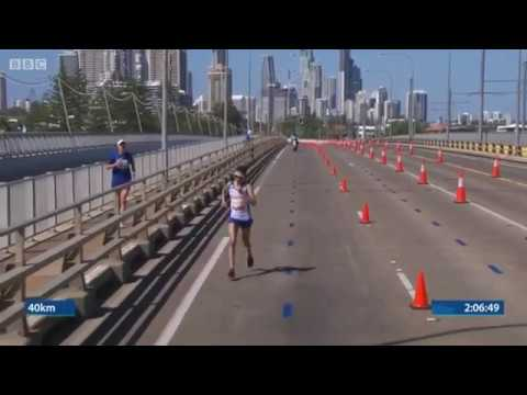 Callum Hawkins Colapses In The Commonwealth Games Mens Marathon 2018