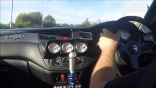 Quaife Sequential Geartronics Flatshift in evo track car