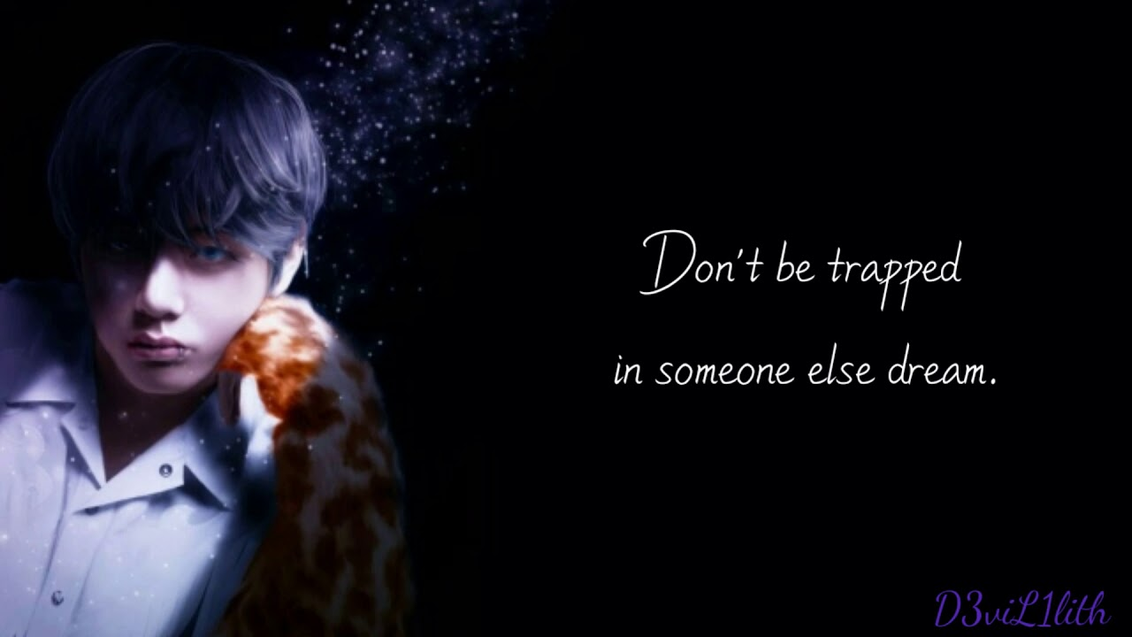bts v taehyung inspirational quotes wise words