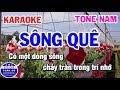 Karaoke Sông Quê Nhạc Sống Tone Nam Bbm