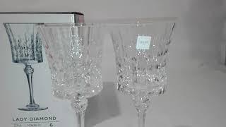 Набор бокалов для вина 270мл 6шт Lady Diamond Eclat L9743 - обзор