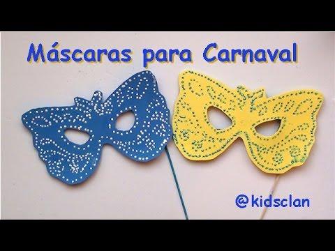 M scaras de carnaval manualidad youtube - Como hacer una mascara ...