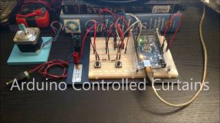 Arduino Controlled Curtains - Home Automation (Test 1)