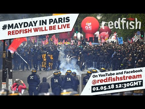 LIVE: May Day demonstration/ 50 years since May '68 revolt