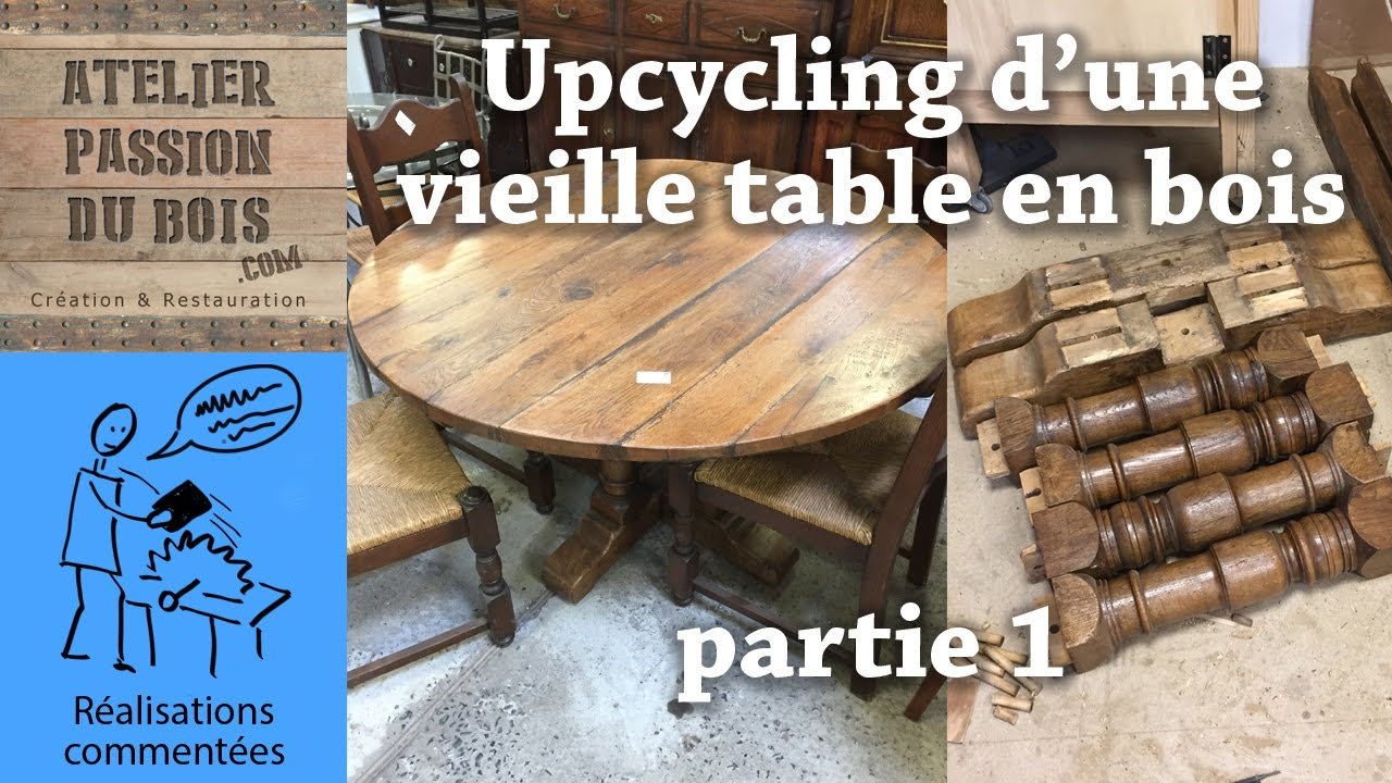 upcycling d 39 une vieille table en bois partie 1 transformation d 39 une table haute en table. Black Bedroom Furniture Sets. Home Design Ideas