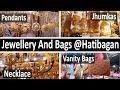 Gold Colour Junk Jewelries+Cute Vanity Bags @Hatibagan(Part 3)