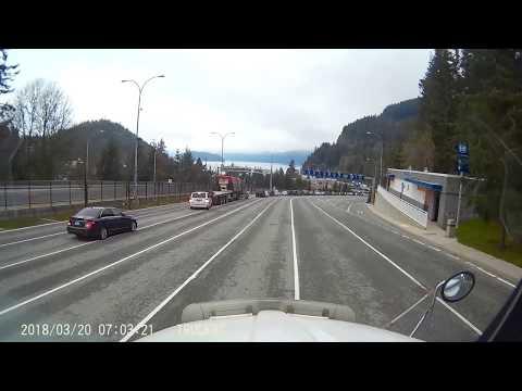 BC Ferries Horseshoe Bay Semi Backs into cars