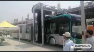 BRT Peshawar Buses automatic washing plant installed at Chamkani Depot.