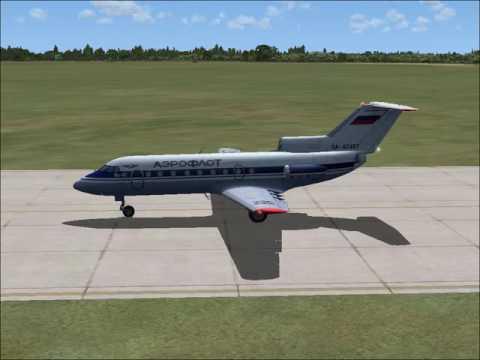 Полет по кругу на ЯК 40 fsx