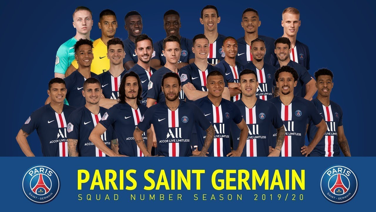Paris Saint Germain Squad Season 2019 20 Youtube