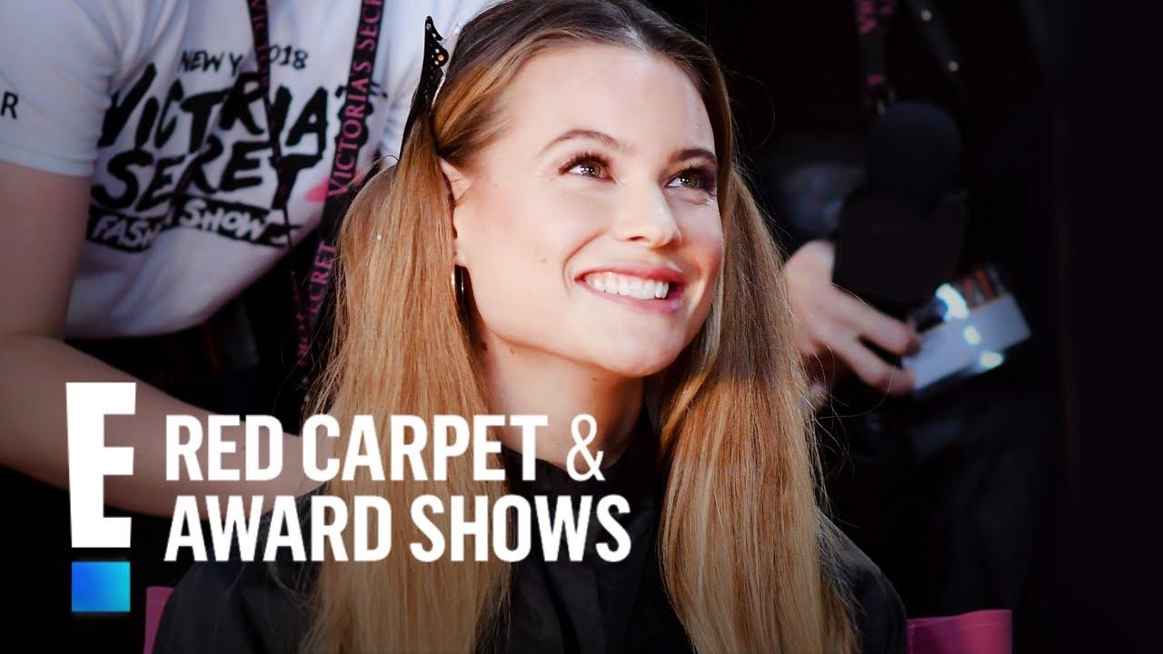 Behati Prinsloo Celebrates 10 Years Walking in VS Fashion Show | E! Red Carpet & Award Shows
