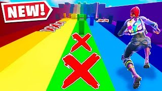 This FORTNITE RAINBOW SLIDE Map Is IMPOSSIBLE.. (Fortnite Creative Mode)