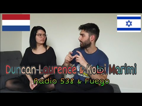 Duncan Laurence & Kobi Marimi (Reacting to Radio 538 & Fuego Performances) w/ my sister
