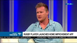 Rugby player launches Home Improvement App