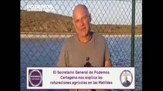 Javier Escarabajal denunciando la degradación del entorno del #MarMenor (2)