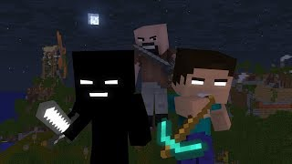 Notch doesnt want Herobrine to be friend with skellies and zombies D: Notch kills his friend in halloween party! Herobrine revenges against Notch ...