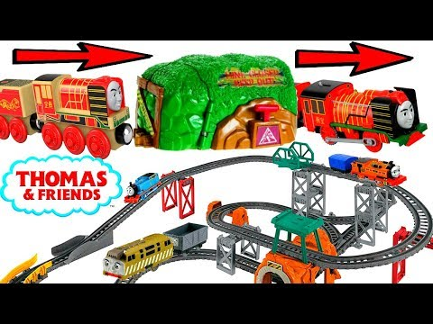 Thomas and Friends Trackmaster Wooden Railway Wood Toys turn into Trackmasters Giant Track Build