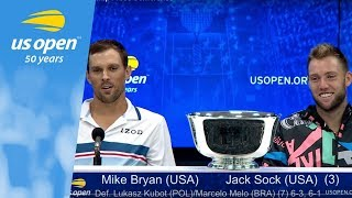 2018 US Open Doubles Championship Press Conference: Mike Bryan & Jack Sock