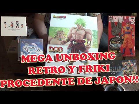 Retro Unboxing de Material Japones Juegos, Música, Figuras y Merchandising!