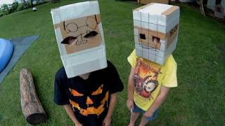 Craft Day! SuperTwins TV Makes Box Head Masks