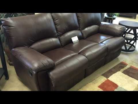 600281 Top Grain Leather Reclining Sofa Set