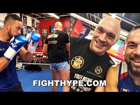 TYSON FURY AND JOSEPH PARKER TRAINING SIDE BY SIDE IN LAS VEGAS; PUTTING IN WORK TOGETHER