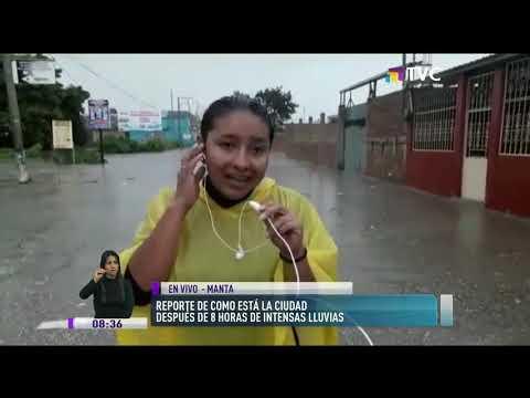 Intensas lluvias azotan la ciudad de Manta