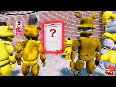 GUESS WHAT'S IN THE SECRET GOLDEN ANIMATRONIC ROOM! (GTA 5 Mods For Kids FNAF RedHatter)