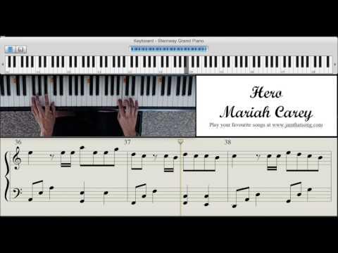 Piano Tutorial - Hero by Mariah Carey
