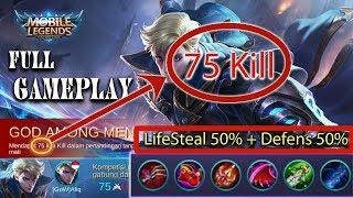 Video 70 KILL | 1vs5 Mobile Legends - Gameplay Alucard ML |Cost mode  -  MOBILE LEGENDS download MP3, 3GP, MP4, WEBM, AVI, FLV November 2017