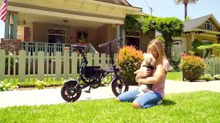 SwagCycle EB-1 Classic Lightweight Aluminum Folding eBike with High-Torque 250W Motor
