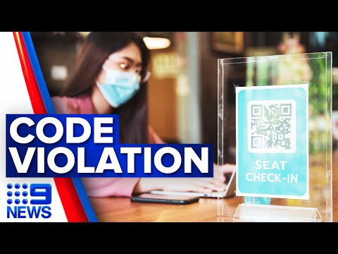 Businesses face fines for QR breaches | Coronavirus | 9 News Australia
