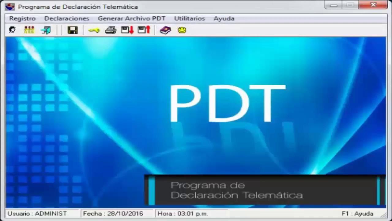 programa de declaracion telematica sunat
