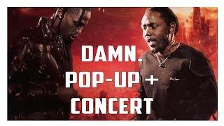 Inside The DAMN Tour Pop Up Shop + Travis Scott Kendrick Lamar Concert!